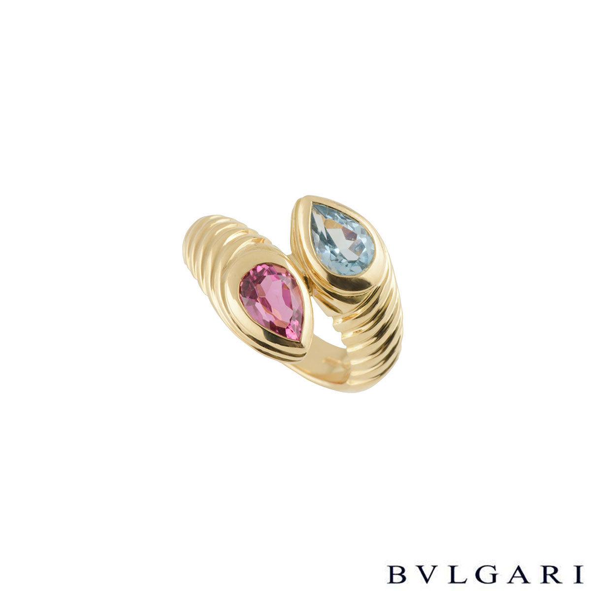Bvlgari Doppio Tourmaline and Topaz Ring